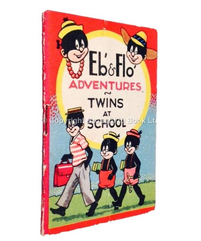 Eb' and Flo' Adventures Twins at School Midget Comic Dean & Son circa 1941